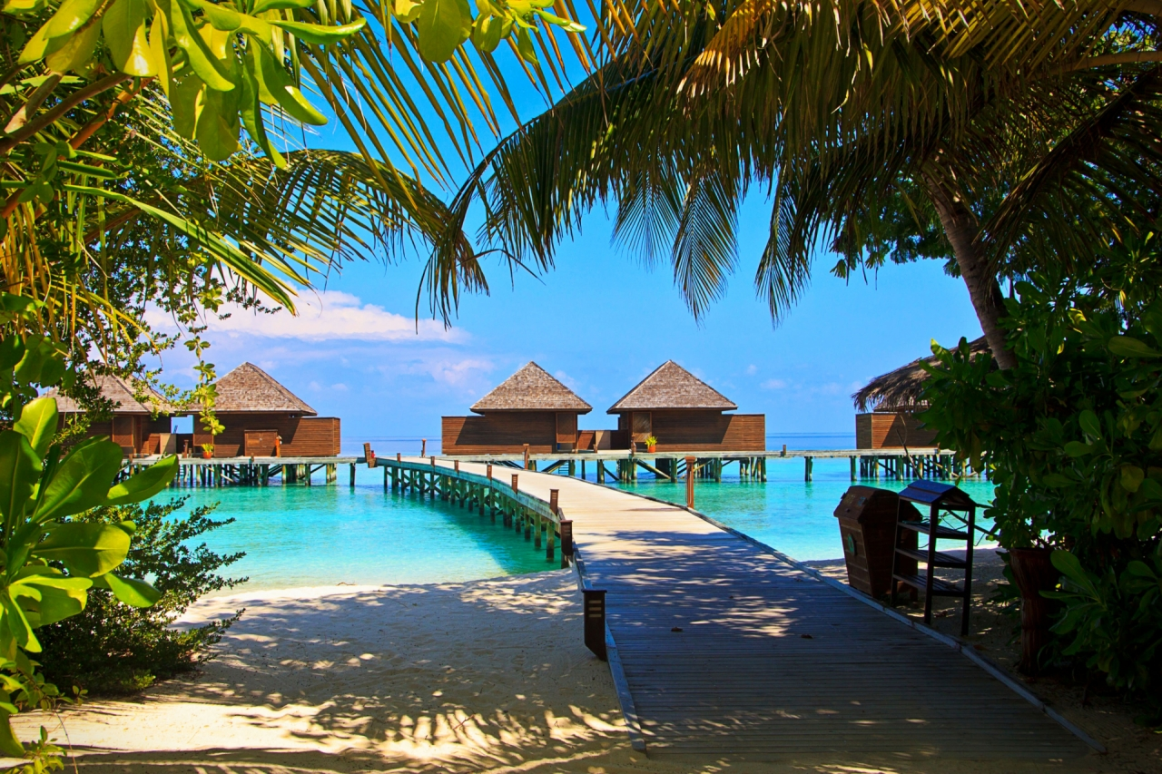 Veligandu Island in Maldives, holiday water houses