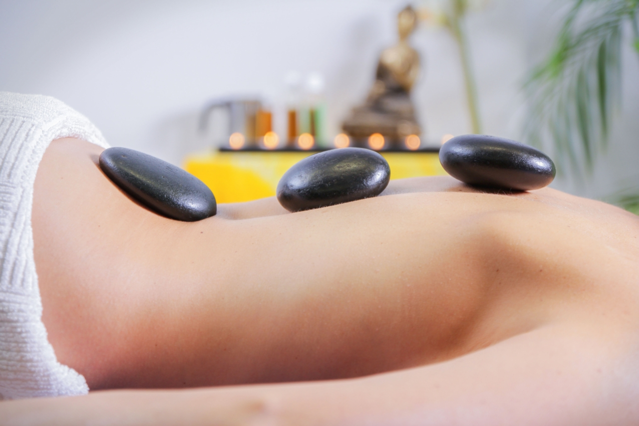 Massage stones, wellness and spa