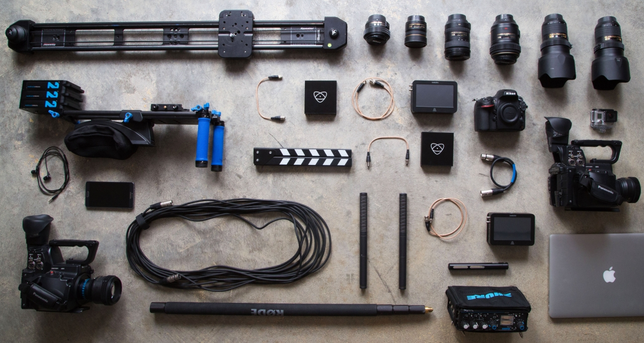 Photography equipment: cameras, tripod and lenses