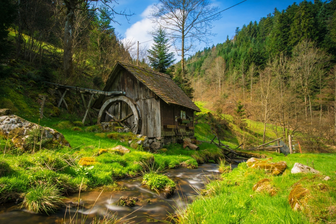 Wooden mill in the Black Forest in Germany