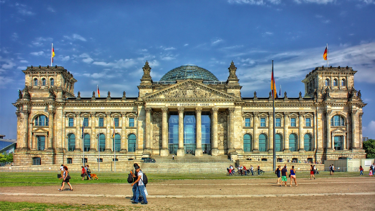 Government Reichstag building in Berlin