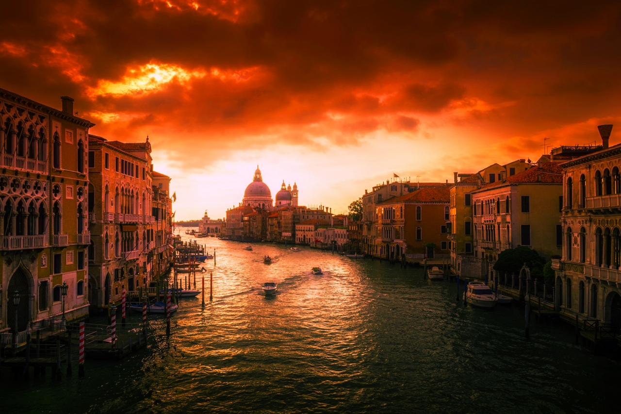 Beautiful Sunset in Venice