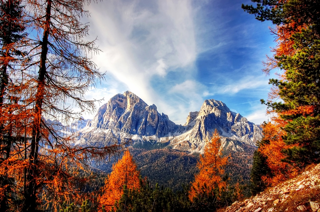Dolomite Mountains in Italy