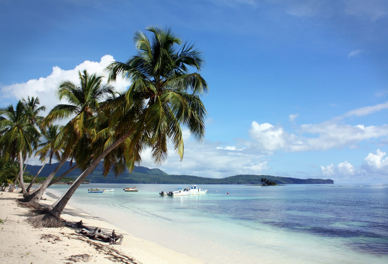 Beach in Las Galeras, Samana, Dominican Republic