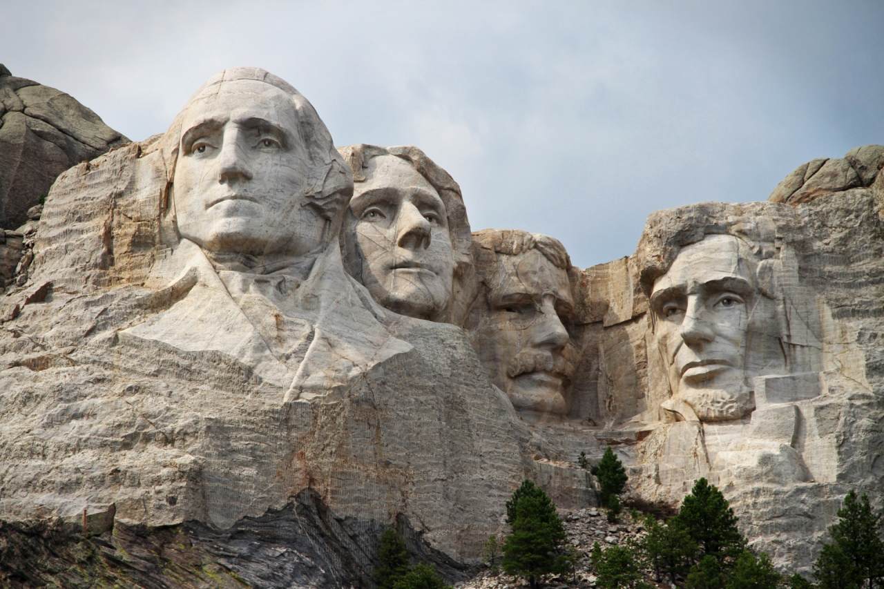 Rushmore Mountain with USA Presidents