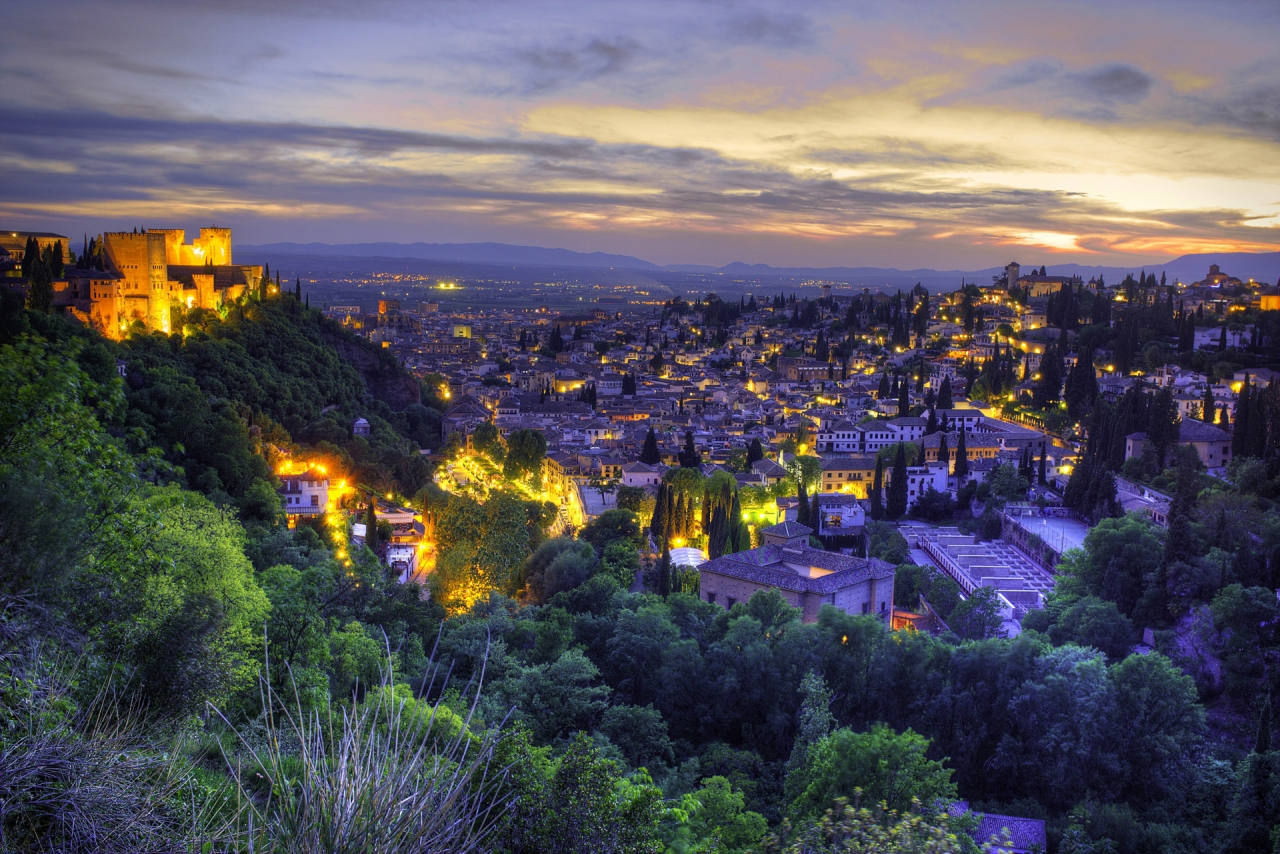 Panorama of Granada, Andalusia, Spain