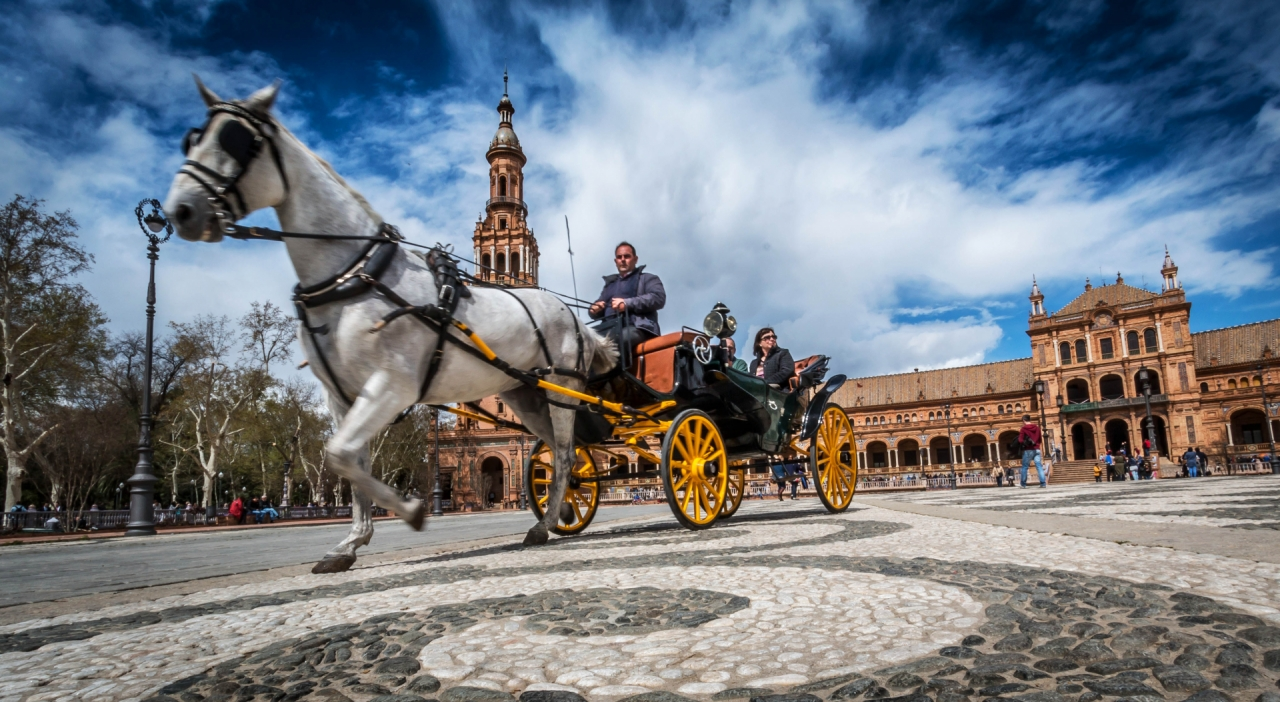 Horse Carriage in Sevilla, Spain