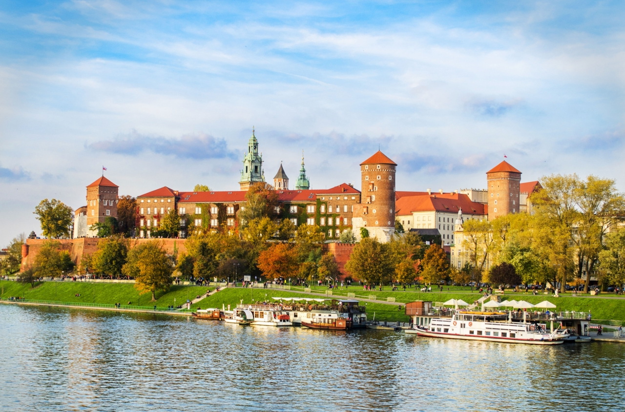 Great Wawel Castle in Cracow, Poland