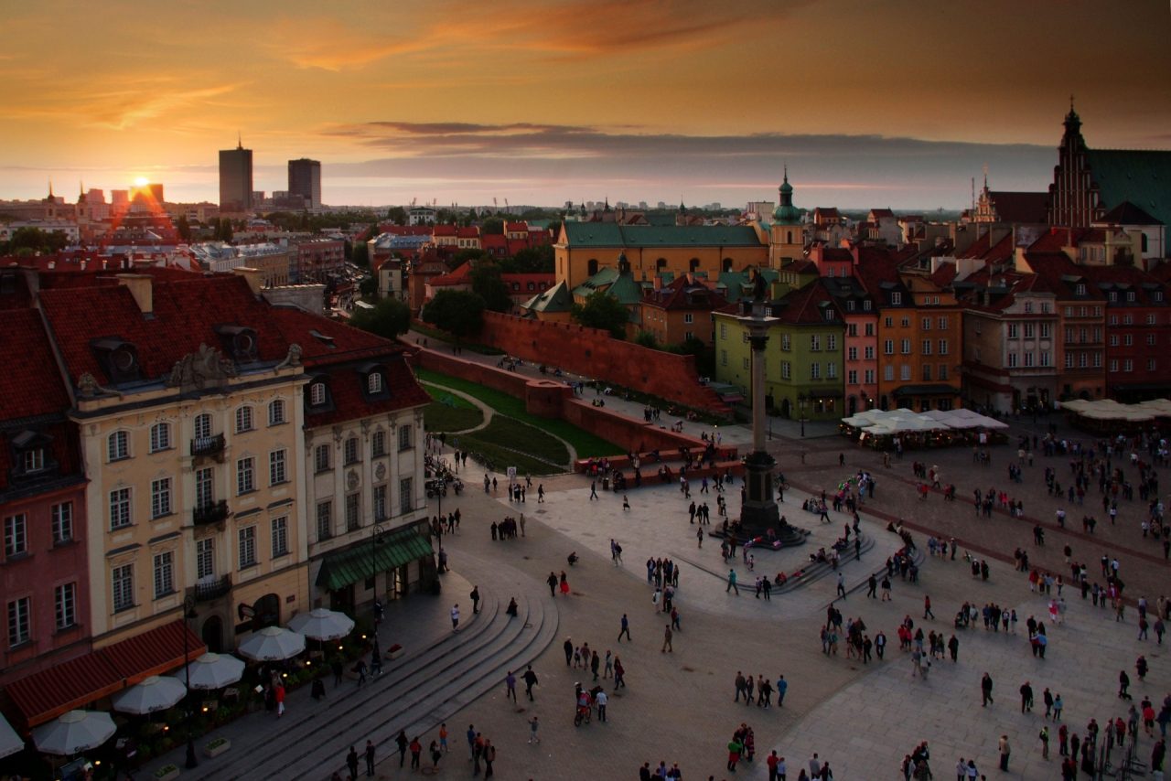 Sunset in Warsaw's Old Town
